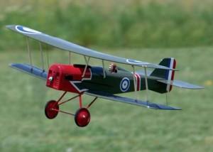 Aeromodelo SE-5A escala do caça biplano britanico da primeira guerra mundial