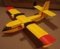 Exemplo de uma construção em depron do tipo 3D (fuselada)