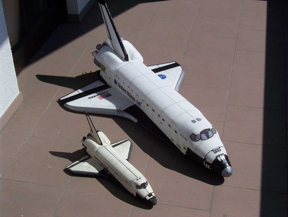Aeromodelo do Onibus Espacial da Nasa