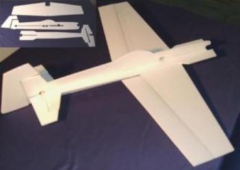 Exemplo de uma construção com depron do tipo Shockflyer (chapada)
